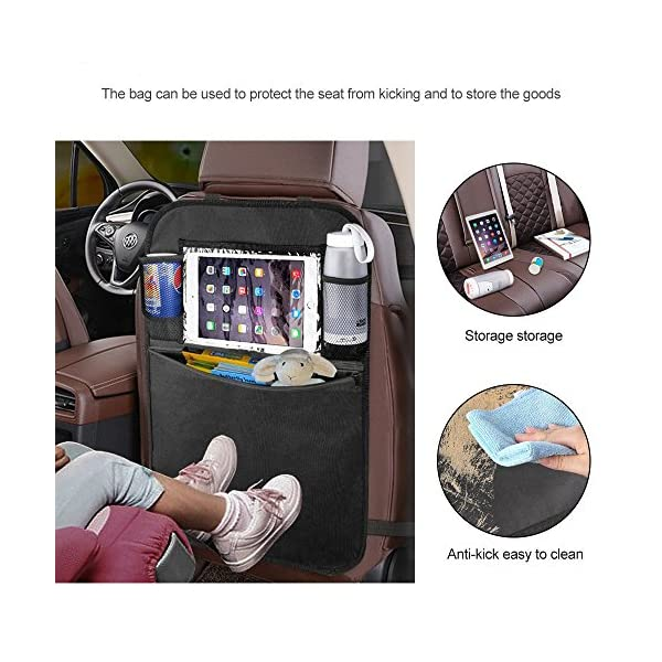 YZCX 2 Pezzi Protezione Sedili Auto Bambini Proteggi Sedile Organizzatore Sedile Posteriore Impermeabile con Supporto… 3