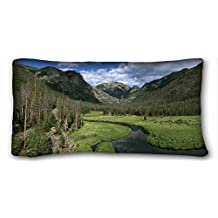 """Custom Characteristic ( Nature Landscapes mountains landscapes ) DIY Pillow Cover Size 20""""X36"""" suitable for Queen-bed PC-Red-24076"""