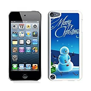 Ipod 5 Cases,Green Box Christmas Snowman White Hard Shell Plastic Apple Ipod Touch 5th Cases