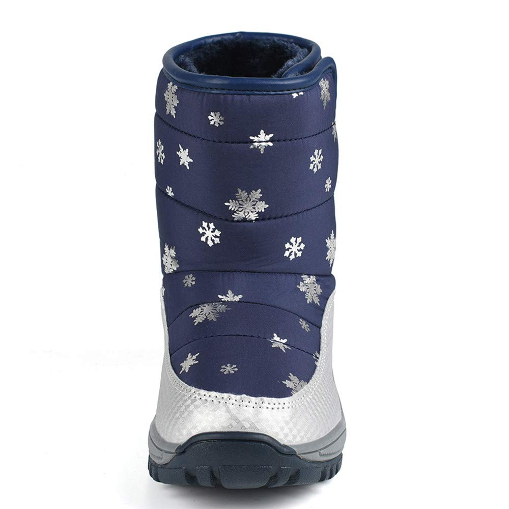 BYTWO Snow Boots Winter Fashion Kids Shoes Students Sneakers Boot,for 4-8 Years Old Kids