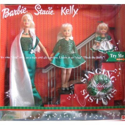 Holiday Singing Sisters Barbie Stacie Kelly Dolls