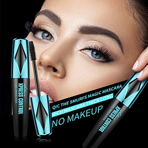 2 Pcs 4D Silk Fiber Lash Mascara, Natural Waterproof Lash Mascara, Thickening Lengthening Mascara, Long Lasting, Smudge-Proof, Voluminous Eyelashes
