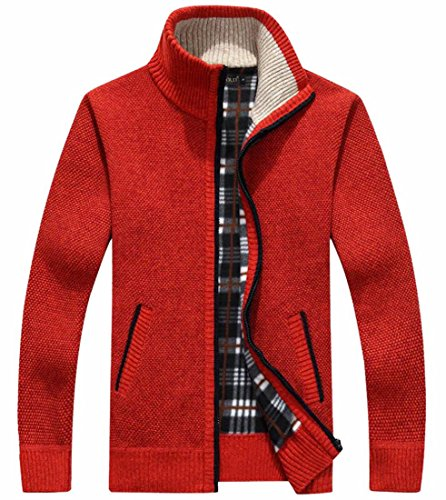 3 Cardigan Zip Maglia Invernali Tasche Full Mens Outerwear Spessa Ttyllmao w0fzBB