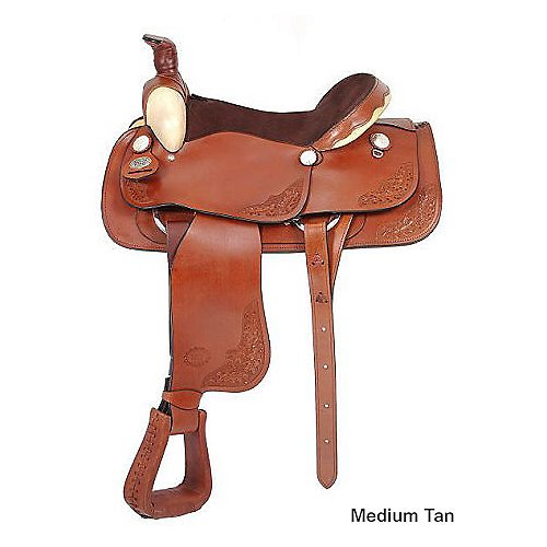 (Royal King Texas Roper Saddle Medium Brown 16.5)