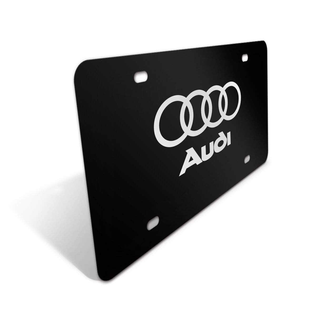Mustang Logo Black Sturdy Stainless Steel Front License Plate,with Screw Caps Cover Set Suit,Applicable to US Standard car License Frame for Ford Mustang.(Print)