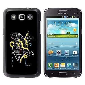 LECELL -- Funda protectora / Cubierta / Piel For Samsung Galaxy Win I8550 I8552 Grand Quattro -- Cool Abstract Weird Bird Snake --