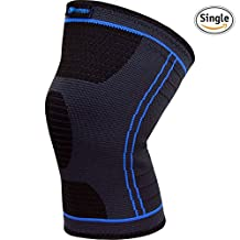 Knee Compression Sleeve (Single) - Support Brace for Running, Jogging, Sports, Joint Pain Relief, Arthritis - Improved Circulation and Injury Recovery (Large)