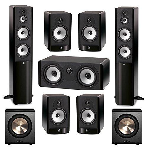 Boston Acoustics 7.2 System with 2 A360 Floorstanding Speakers, 1 A225C Center Channel Speaker, 4 A26 Bookshelf Speaker,