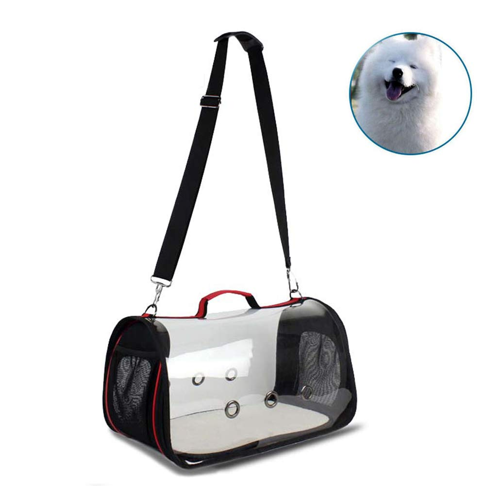 M WYYZSS Pet Carrier,Cat Travel Bag,Breathable and Lighteweight for Cats dogs Puppies Transparent Outdoor Travel Handled Portable PU Single Shoulder Bags