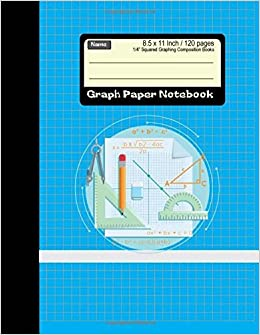 graph paper notebook squared graphing composition books 85 x 11 inch 120 pages diary journal graph coordinate grid squared spiral paper