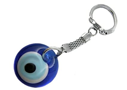 Nuevo Llavero ojo turco en cristal de murano, reforzado.