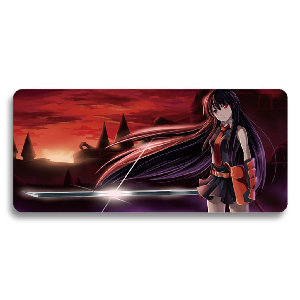 QYLOZ Large Game Animation Expansion Mouse Pad Multi-Function Desktop Protection Mat Rubber Base Non-Slip Wear Resistant Easy to Clean (Color : B, Size : 4mm) by QYLOZ
