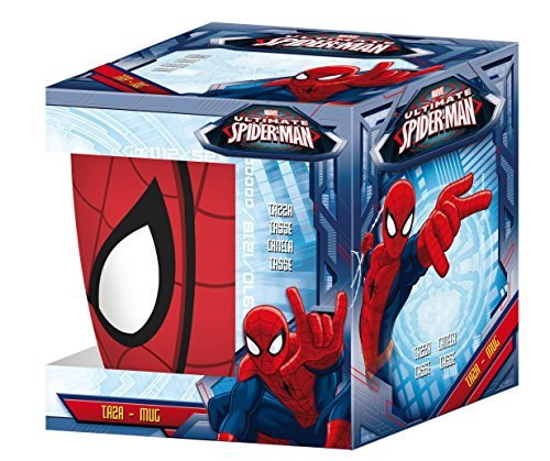 Disney Spider Man Ceramic Coffee Mug Set, 280ml, Set of 2, Multicolour