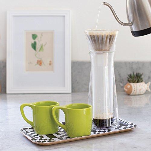 notNeutral 01501773R Lino Coffee Mugs, Set of 4, Lotus Green