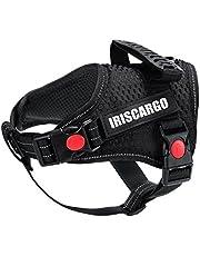 IrisCargo Dog Harness, Adjustable No Pull Dog Harness Medium Black [New Version]