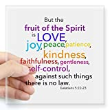 """CafePress - Fruits Of The Spirit Square Sticker 3"""" X 3 - Square Bumper Sticker Car Decal, 3""""x3"""" (Small) or 5""""x5"""" (Large)"""