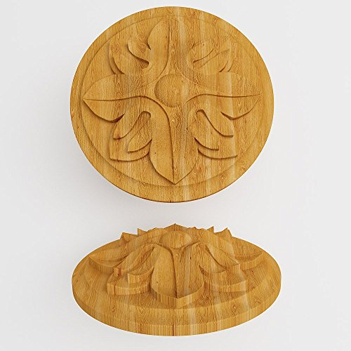Furniture Wood Appliques Onlay Wood carved rosettes Applique furniture decor DIY Furniture Trim Supplies wall ornaments -