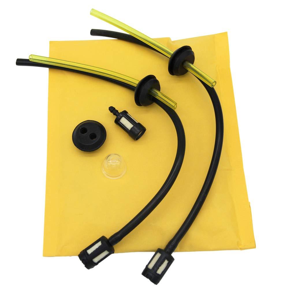 SWNKDG Kit de filtro de combustible universal 2x junta de la manguera de gasolina para la desbrozadora Cortadora Cortadora de podadoras con cepillado
