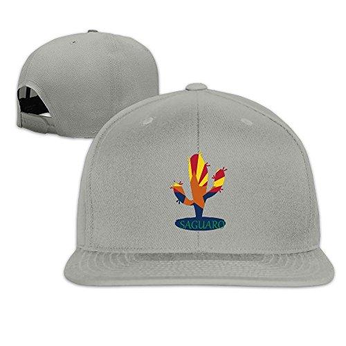 Unisex Arizona State Flower Saguaro Baseball Sport Snakpack Hats Multi Color Ash (Shops Flagstaff Flower)