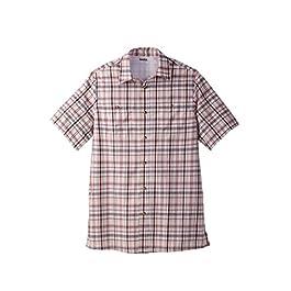 Men's Big and Tall Short-Sleeve Plaid Sport Shirt