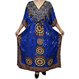 Mogul Womens Maxi Caftan Kaftan Cover Up Beach Dress Holiday Resort Wear One Size