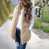 Rambling New Womens Ladies Sexy Faux Fur Waistcoat Vest Gilet Outwear Coat Mid-Long Jacket