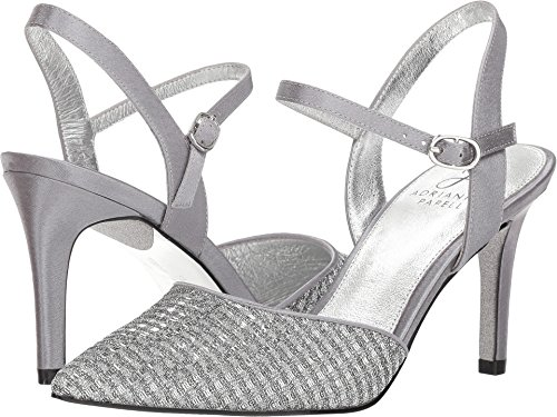 Adrianna Papell Women's Hadleigh Antique Silver Crystal Glitter 6.5 M US