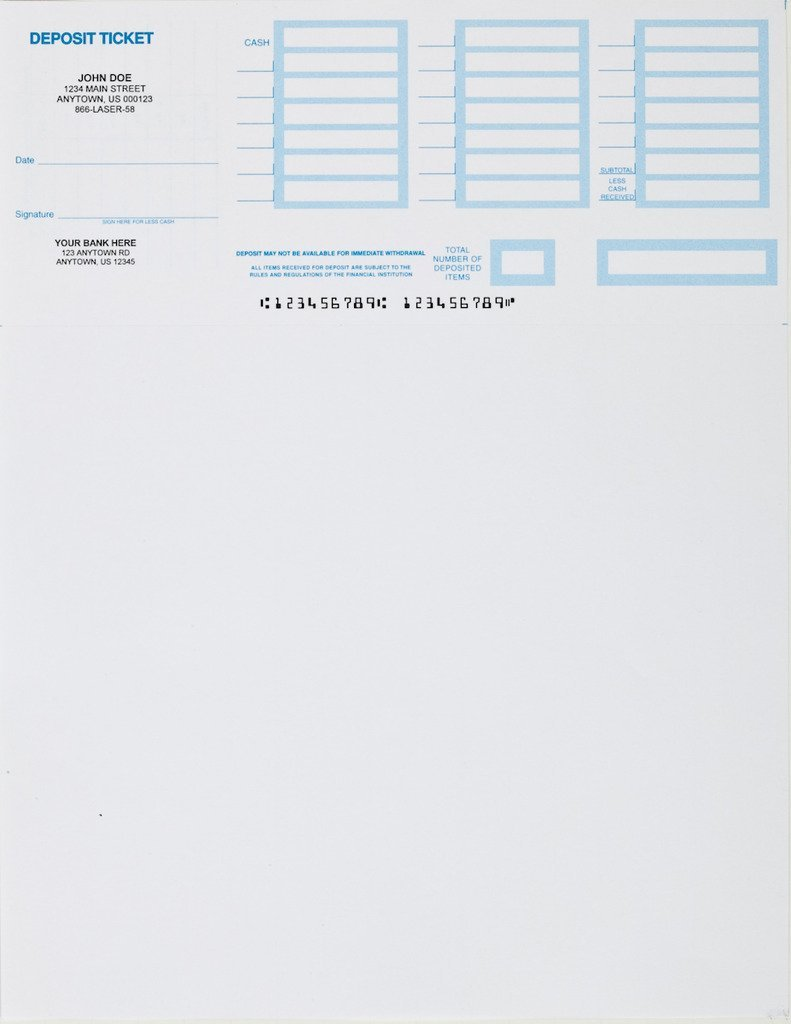 image relating to Us Bank Deposit Slip Printable named 250- Printable Deposit Slips Custom-made
