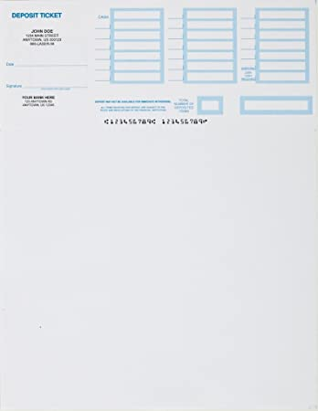 image about Printable Deposit Slips known as 250- Printable Deposit Slips Tailored
