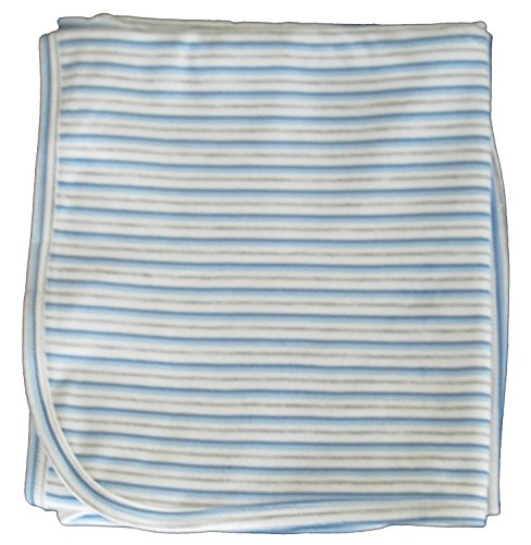 Kissy Kissy Baby Essentials Striped Receiving Blanket-Multi-Striped-One Size Cotton Striped Receiving Blanket