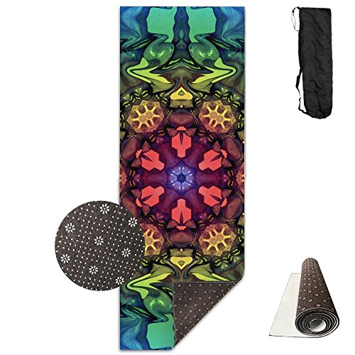 Non Slip Yoga Mat Maxresdefault Premium Printed 24 X 71 Inches Great For Exercise Pilates Gymnastics Carrying Strap