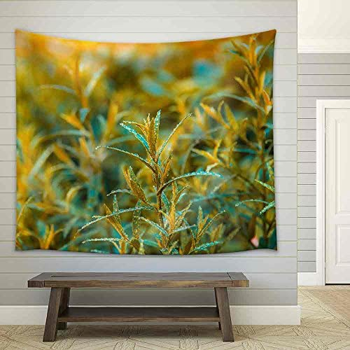 Good Brown Tarragon in The Morning Dew Fabric Wall