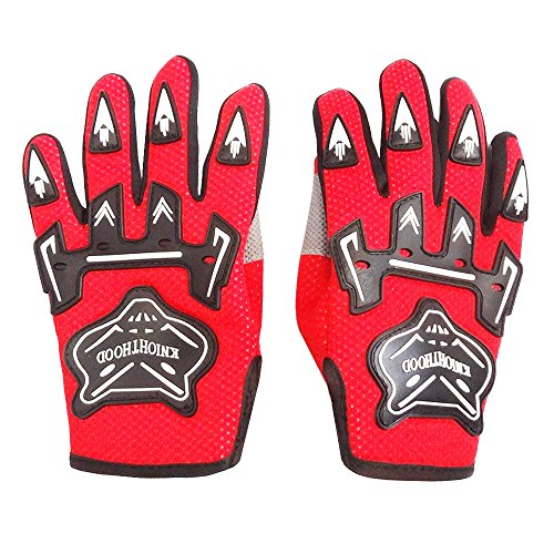 Youth Gloves Dirtpaw (WPHMOTO Kids Full Finger Motorcycle Dirt Bike Riding Cycling Sports Gloves (S, Red))