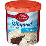 Betty Crocker Whipped Frosting, Vanilla, 12 oz Canister