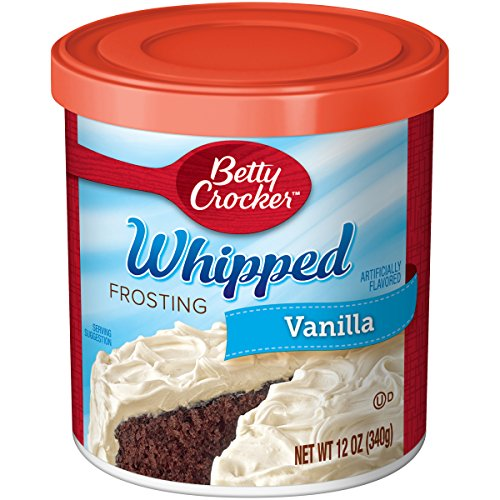 - Betty Crocker Whipped Frosting, Vanilla, 12 oz Canister