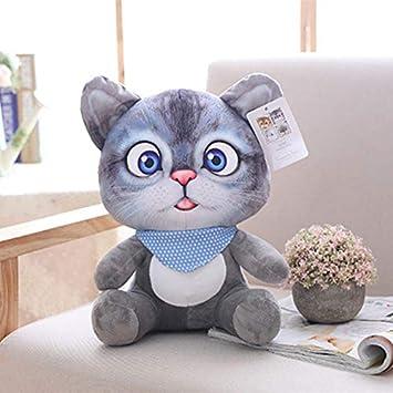 CGDX 1 unid 20 cm Mini Lindo Gato de Felpa Juguetes de Peluche Animales de Peluche de Dibujos Animados Gato Muñeca Juguetes para Niños Juguetes Niñas Regalos Gris: Amazon.es: Juguetes y juegos