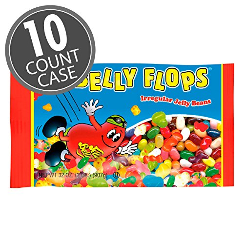Jelly Belly Belly Flops Jelly Beans - 10 x 2 Pound Bags of Irregular Jelly Beans - Assorted Flavors - 10 Count Case - Official, Genuine, Straight from the Source]()
