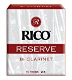 Rico Reserve Bb Clarinet Reeds, Strength 2.5, 10-pack