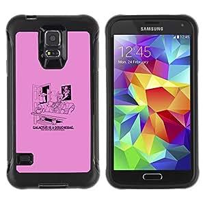 KEIZZ Cases / Samsung Galaxy S5 SM-G900 / Galactus Douche - Funny / Robusto Prueba de choques Caso Billetera cubierta Shell Armor Funda Case Cover Slim Armor