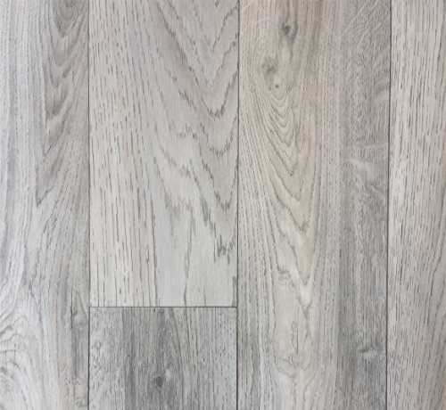 PVC-Belag verf/ügbar in der Breite 4 m /& in der L/änge 5,0 m PVC Vinyl-Bodenbelag Schiffsboden-Optik Grau rutschhemmend CV-Boden wird in ben/ötigter Gr/ö/ße als Meterware geliefert