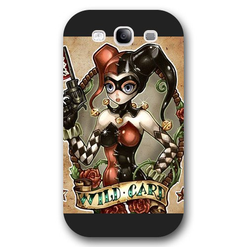 UniqueBox Harley Quinn Custom Phone Case for Samsung Galaxy S3, DC comics Harley Quinn Customized Samsung Galaxy S3 Case, Only Fit for Samsung Galaxy S3 (Black Frosted Shell)