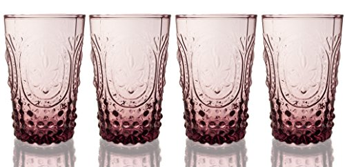 Fleur De Lys Amethyst Juice Glass 4-Piece Set, 10 Ounce (Vintage Water Glasses compare prices)