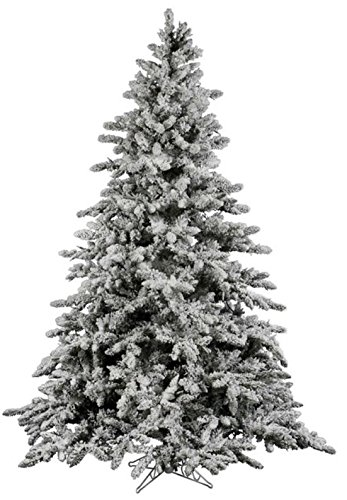 6FT AMERIQUE Premium Hinged Artificial Snowy Pine Christmas Tree With Metal Stand Flocked Snow Unlit