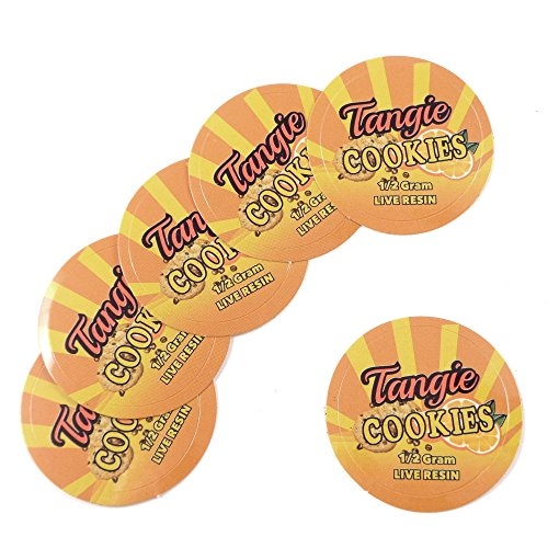 100 Tangie Cookies Live Resin 1/2 Gram Medical Rx Labels Stickers 1
