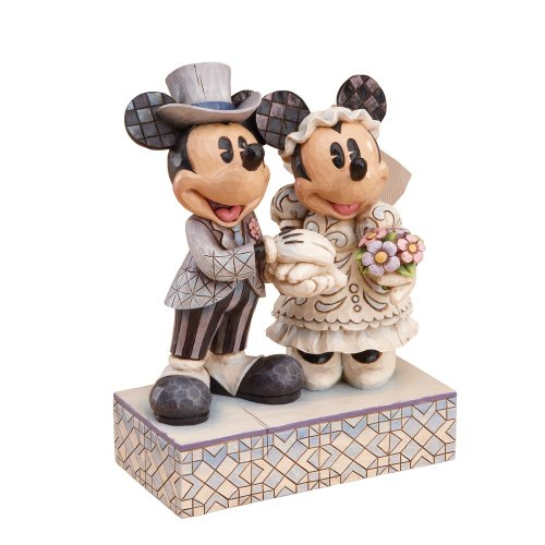 Enesco Disney Traditions Designed by Jim Shore Mickey Minnie Wedding Figurine 6.25