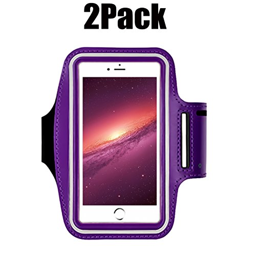 [2pack] iPhone X /8/7 / 6S / 6 / 5S / 5c Sports Armband,CaseHQ case Great for Running,Workouts or Any Fitness Activity, Strap for Stores Cash,Cards and Keys. Fits Smartphone -