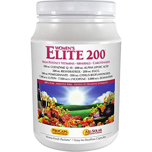 Andrew Lessman Multivitamin – Women's Elite-200 120 Packets – 40+ Potent Nutrients Plus 200mg Each Coenzyme Q10, Alpha Lipoic Acid, Resveratrol, EGCG, Pomegranate, Citrus Bioflavonoids. No Additives