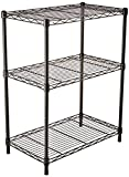 AmazonBasics 3-Shelf Shelving Storage Unit, Metal Organizer Wire Rack, Black: more info