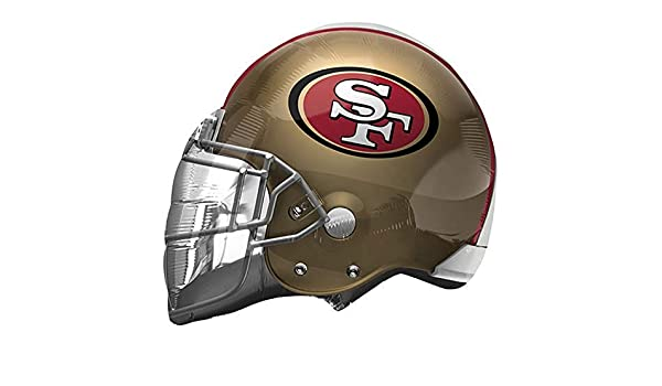 Anagram 26308 NFL San Francisco 49Ers Football Helmet Foil Balloon 21 Multicolored