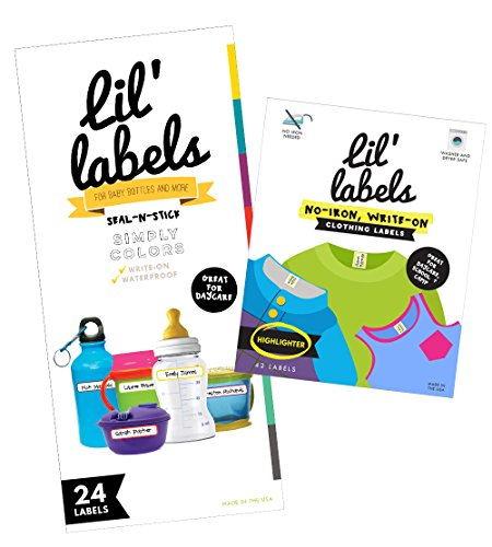 Lil' Labels Daycare Value Pack Bottle and Clothing Labels...